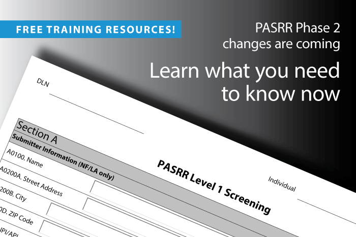 Texas PASRR Phase 2 training webinar