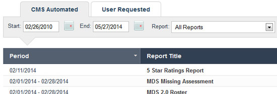 SimpleMDS CMS reports center for MDS 3.0 reimbursement