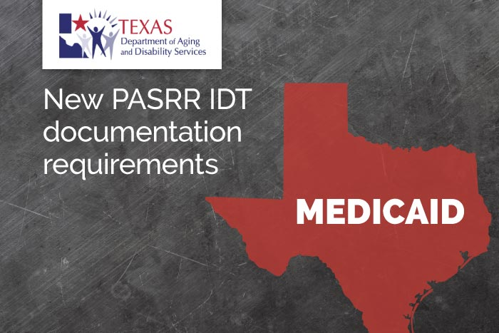 PASRR IDT meeting requirements for Texas facilities
