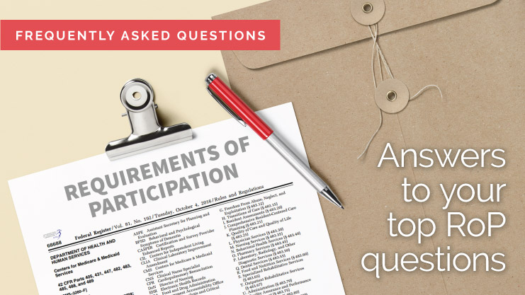 Frequently Asked Questions about Requirements of Participation