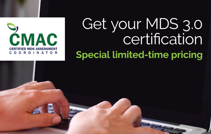 MDS 3.0 certification from Relias Learning/AIS