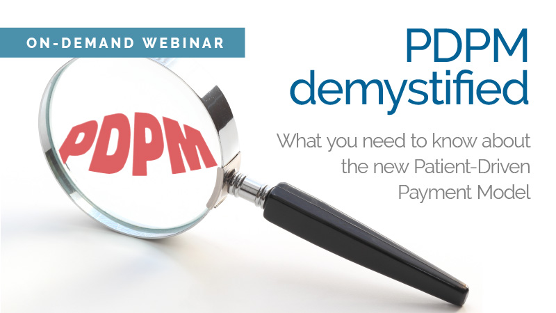 PDPM Demystified webinar