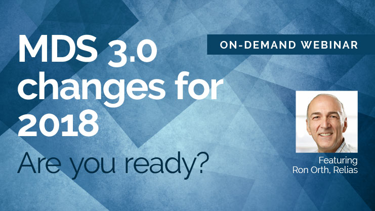 MDS 3.0 updates for 2018
