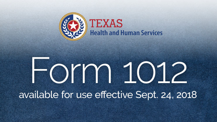 Texas Medicaid HHS form 1012